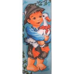 Gobelin 15x38 cm 220 Kisfiú kacsával