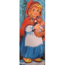Gobelin 15x38 cm 221 Kislány kosárral