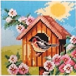 Gobelin 15x15 cm 2303 tavaszi madáretető