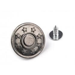 Farmergomb beütős 1,7 cm antik nikkel Csillag