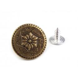 Farmergomb beütős 1,7 cm bronz Virág