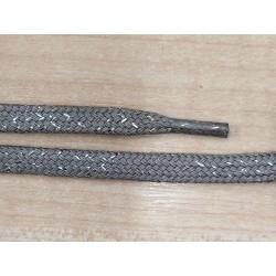 Cipőfűző fémszálas lapos Lux 100 cm szürke