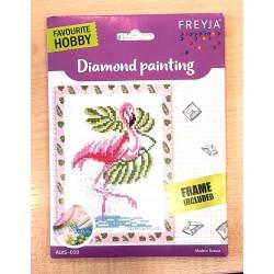 Gyémántszemes kirakó 14x19,5 cm flamingó