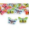 Fagomb pillangó 1,7x2,4 cm vegyes színek