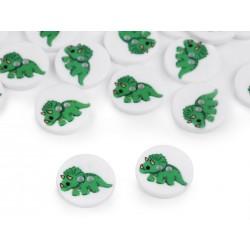 Dekorgomb 1,5 cm zöld dínó