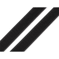 Tépőzár öntapadós 2,5 cm fekete