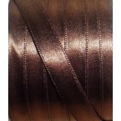 Szatén szalag 0,6 cm barna
