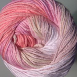 Bella Batik fehér/rózsa/drapp/lila 50 g