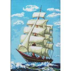 Gobelin 22x30 cm 048 T Vitorlás hajó