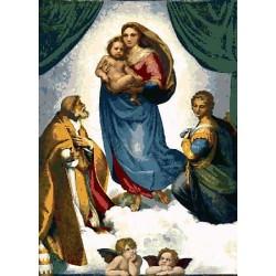 Gobelin 40x28 cm Sz:365 T Raffaello: Madonna