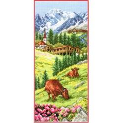 Keresztszemes 32x14 cm PCE0811 Swiss Alpine Landscape