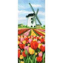 Keresztszemes 32x14 cm PCE0806 Dutch Tulips Landscape