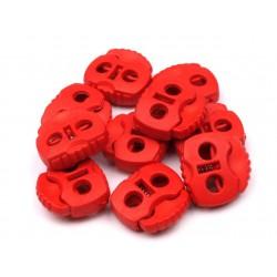 Végszorító 2x2 cm rugós piros