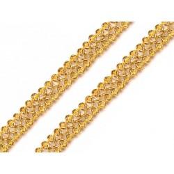 Bortni 0,9 cm széles aranyszínű