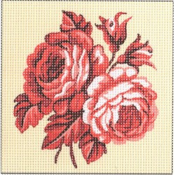 Gobelin 15x15 cm 976 Rózsa