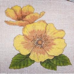 Gobelin 10x10 cm V20A T Virág
