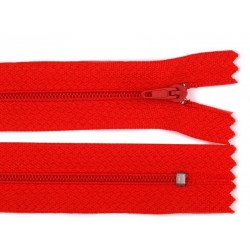 Cipzár 25 cm műanyag piros