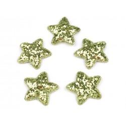 Dekoráció csillag 3,5 cm zöld