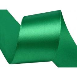 Szatén szalag 3,8 cm zöld