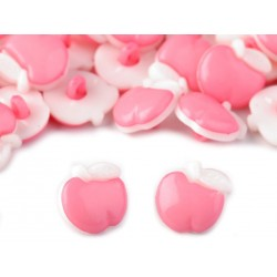 Babagomb 1,4 cm rózsaszín alma