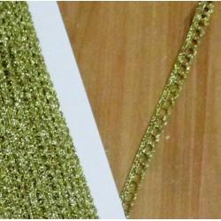 Műszálas csipke 0,8 cm aranyszínű