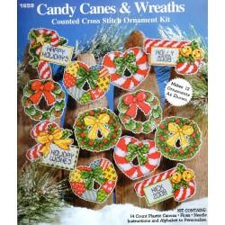 Keresztszemes dísz szett Karácsonyi díszek 12 db