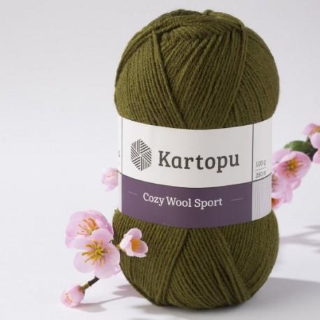 Cozy Wool Sport khaki 100 g