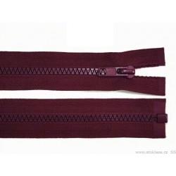 Cipzár 60 cm bontható burgundi GT10