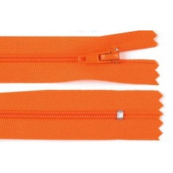 Cipzár 18 cm műanyag narancs