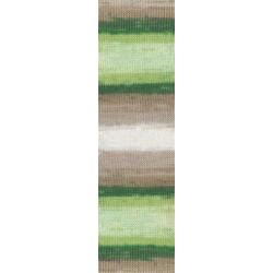 Diva Batik zöld/bézs 100 g