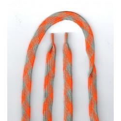 Cipőfűző mintás sport 120 cm narancs/szürke
