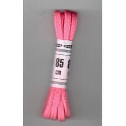 Cipőfűző 85 cm lapos rózsaszín