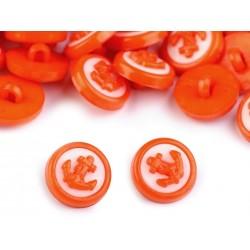 Babagomb 1,4 cm narancssárga horgony