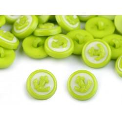 Babagomb 1,4 cm zöld horgony