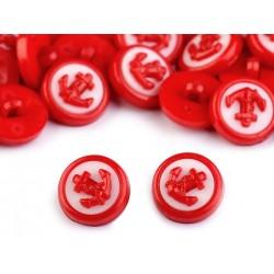 Babagomb 1,4 cm piros horgony