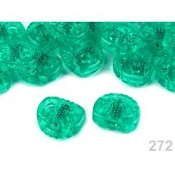 Végszorító 2x2 cm áttetsző zöld