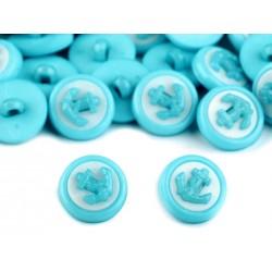 Babagomb 1,4 cm kék horgony