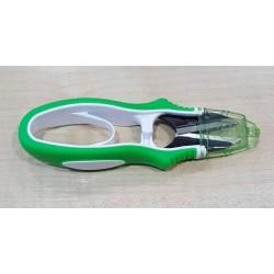 Csíptető olló ergonomikus zöld