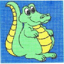 Gobelin 10x10 cm 101010 Krokodil
