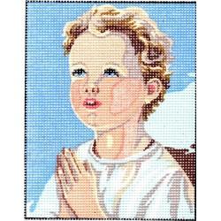 Gobelin 25x20 cm 3221 Imádkozó kisgyerek I