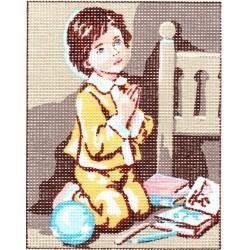 Gobelin 25x20 cm 3295 Imádkozó kisgyerek II