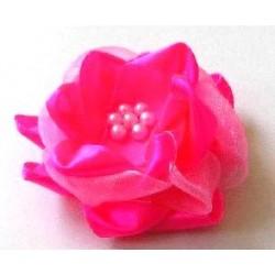 Díszrózsa gyönggyel 5 cm pink