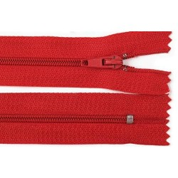 Cipzár 40 cm műanyag piros