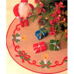 Karácsonyfatalp takaró 98 cm 7535 Fa szoknya