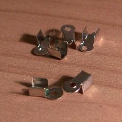 Bőrvégzáró 0,3x0,9 cm ezüstszínű 3 pár