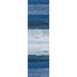 Lanagold Batik  kék/fehér/szürke 100 g