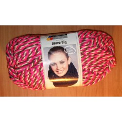 Bravo Big Color neon pink mouline 200 g