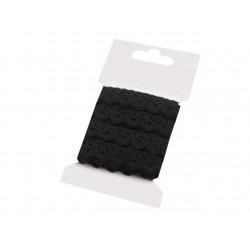 Pamut vert csipke 1,5 cm fekete 3 m/csomag