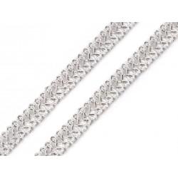 Bortni 0,9 cm széles ezüstszínű