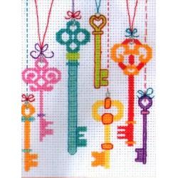 Keresztszemes 11x8 cm PCE762 Kulcsok